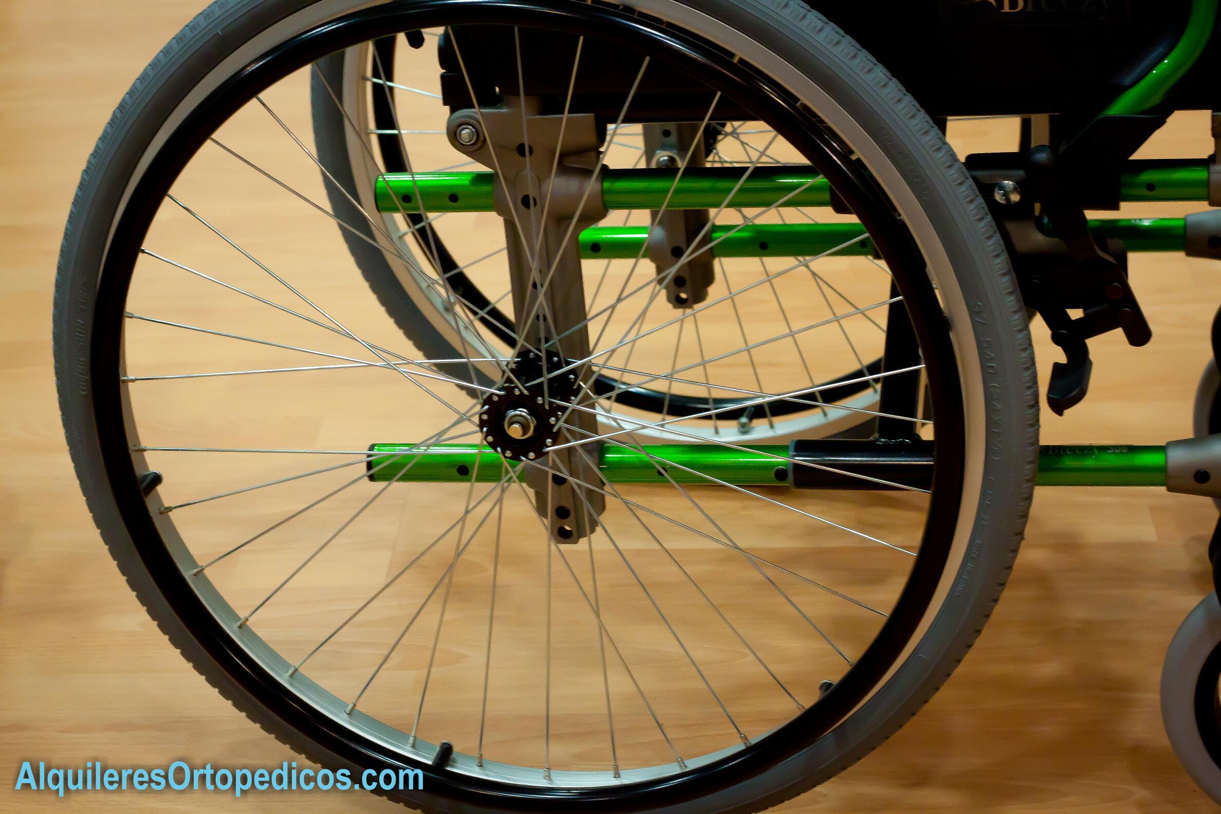 Silla de ruedas rueda grande alquileres ortop dicos - Silla de paseo ruedas grandes ...