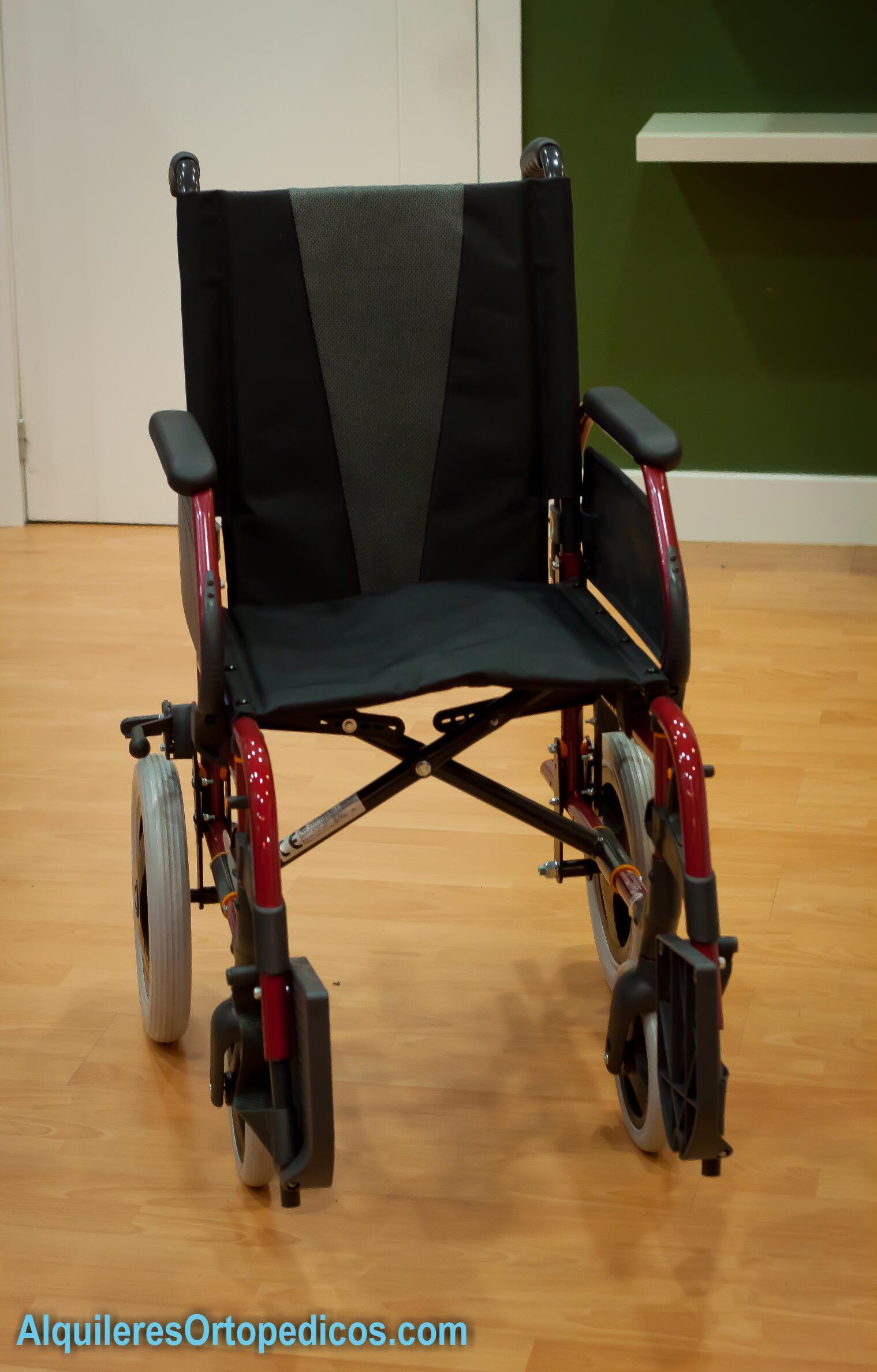 silla de ruedas rueda peque a alquileres ortop dicos